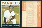 (40780) 1964 Topps 325 Hector Lopez Yankees-EM