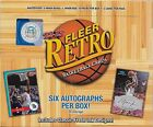 2012 13 FLEER RETRO BASKETBALL HOBBY BOX BRAND NEW SEALED 6 AUTOS