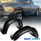 2009-2016 Dodge Ram 1500 Black Pocket Rivet Bolt-On Style Fender Flares