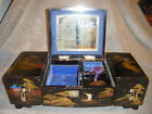 very nice JAPAN BLACK LACQUER WOOD JEWELRY MUSIC BOX