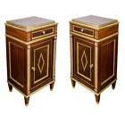 Pair of Russian Bedside Commodes, Late 19th Century