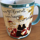 We're Girlfriends...  on the Beach  Coffee Mug   Dan Dipaolo Art  Lang  3 3/4
