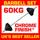 Barbell Set 60kg Triceps Bar Weight Plate Weightlifting Training