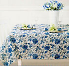Waverly Easy Care Floral Tablecloths Felicite/Blue Assorted Sizes 100% Polyester