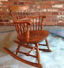 Stone Traditional Windsor Back Rocking Chairs, Solid Maple, Made