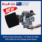 GY6 30mm Carby Carburetor + Pod Filter 250cc GY6 Engine Buggy ATV Go Kart Moped