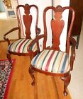 Georgian Court ETHAN ALLEN ARM DINING CHAIR Solid Cherry #205 Queen Anne PAIR