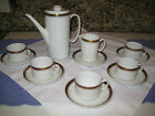 Vintage CHODZIEZ Coffee service for 5. #07495. mid-century modern.White/gold