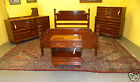 Beautiful Antique Mid Century Solid Cherry Full Queen Bedroom Set by Kling