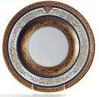 HUTSCHENREUTHER Royal Bavarian Gold Encrusted Plate w/ Art Deco Mono