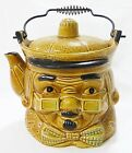 Vintage tea pot pitcher made in japan ben franklin face kitchen ware