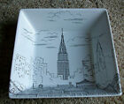 222 Fifth City Scenes New York Empire State SQUARE BOWL Soup Cereal  Replacement