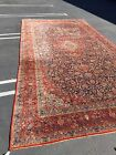 Very Large Semi-Antique Vintage Kashan Hand-Knotted Persian Rug - 10.5' x 19.5'