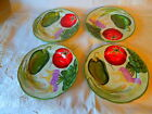NWT 4 Salad Accent Plates Fitz Floyd LE MARCHE Vegetables Green Trim 8.5