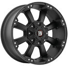 Ballistic 845 Morax 20x9 5x1397 5x150 12mm Flat Black Wheels Rims