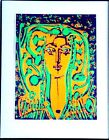 OLD MASTER PICASSO PASTEL OF A WOMAN.   (FREE SHIPPING.)