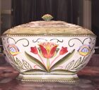 New FITZ and FLOYD Glennbrook Soup Tureen Covered Vegetable Bowl Flower Floral