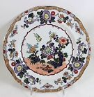 2 LOVELY MASON'S CHINA #C1791 IRONSTONE DINNER PLATES HAND PAINTED FLORAL BIRD