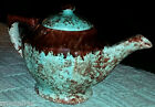 Turquoise Brown Spotted TeaPot P-31 w/Lid