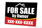 FOR SALE BY OWNER FULL COLOR SEMI CUSTOM DOUBLE SIDED SIGN PACK OF 10