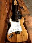 NEW LEFT HANDED NATURAL HARD TAIL STRAT STYLE 12 STRING ELECTRIC GUITAR LEFTY
