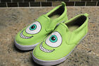 New Disney Parks MIKE WAZOWSKI Monsters Canvas Slide On Sneakers Shoes Kids 4 5
