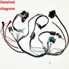 COMPLETE ELECTRICS MINI ATV QUAD 50CC 90CC 110CC WIRING HARNESS STATOR COOLSTER