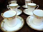 ANTIQUE NIPPON ROSES DEMITASSE CUP SAUCER SET  c1911 HAND PAINTED GOLD MORIAGE