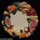 Fitz and Floyd Carioca Canapé Dessert Plate Tropical Fruits 1999 RARE VHTF A