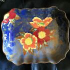 Lovely Antique Royal Doulton Iridescent Floral Bowl Signed by Artist