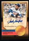 SANDY KOUFAX 2012 TOPPS GOLDEN GREATS AUTOGRAPH DODGERS AUTO SP #10 10 $500+