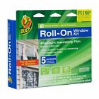 Duck Brand 281072 Roll-On Outdoor 5-Window Premium Insulating Film Kit 62-Inc...