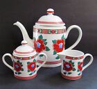 Fitz & Floyd Camellia (3) Piece Large Coffee - Tea Set Creamer & Sugar