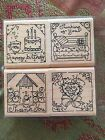 DOTS CTMH S510 January Hostess Special Set of 4 Stamps Country Greetings Mini