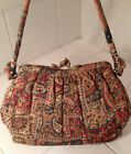 Vintage Vtg Retro 1940's Purse Handbag ~Beautiful Crepe Fabric