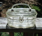 Vintage LUCITE Purse Handbag Clear with flower cut design Lucite Box Purse MOD