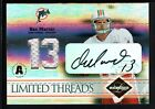 DAN MARINO 2004 LEAF LIMITED THREADS AUTOGRAPH DUAL DOLPHINS JERSEY AUTO #04 13