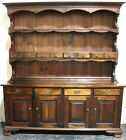 Antique China Cabinet Cupboard Hutch Display Breakfront Bookcase Buffet Vintage