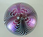 Purple pulled feather signed and dated Terry Crider Paperweight Dated 1979