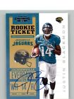 2012 Panini Contenders #205B Justin Blackmon SP 125* RC Auto Rookie Autograph