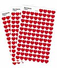 3 Sheets RED HEARTS Valentines LOVE MINI 300 Scrapbook Stickers