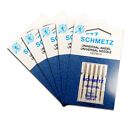 5x Schmetz Universal Needles Size 90/14 - Useful Utility, 5 Pack, Fits Most