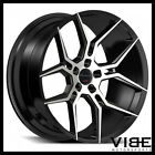 20 GIOVANNA HALEB MACHINED BLACK CONCAVE WHEELS RIMS FITS TESLA MODEL S
