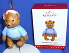 Hallmark Member Exclusive Ornament Hangin with Teddy Bear 2015 Porcelain Jointed