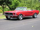 Ford Mustang CUSTOM 1968 mustang convertible custom candy apple red s match restored must see