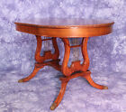 DUNCAN PHYFE OVAL MAHOGANY DINING TABLE CLAW FEET CENTER SIDE END COFFEE VINTAGE