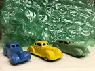 Old Vtg Antique Collectible Diecast Tootsietoy Light Green Toy Car Made In USA