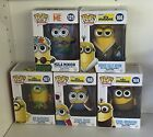 Lot of 5 MINIONS Funko Pop Figures NEW IN BOX Hula, Au Naturel, Bored, King,Cro