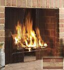 Midwest Hearth Fireplace Screen Curtain 20 High 2 Panels Each 24 Wide