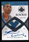 RUSSELL WESTBROOK 2008 09 UD EXQUISITE RC AUTO 2 COLOR PATCH JERSEY # 225 $2500+